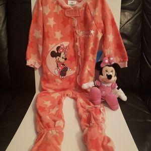 Disney Onesie with Minnie Mouse Plush toy